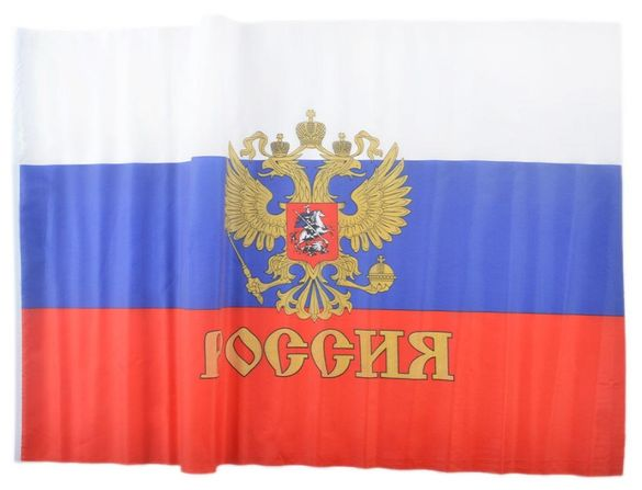 знаме на Русия със и без герб различни размери