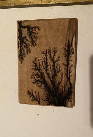 Tablou gravat lemn
