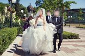 Булченска/булчинска рокля- Pronovias White One, малък размер