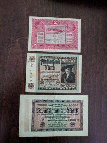 ЗА КОЛЕКЦИОНЕРИ!!!Лот от стари немски и австро-унгарски банкноти