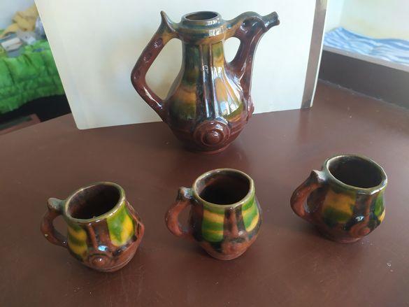 Глинен чайник с чашки