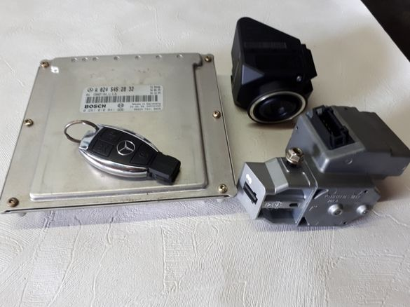 Ключ рибка гълтач компютър и заключващо за мерцедес w210 2,2 цди 143к