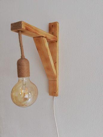 Лампа ръчна изработка/естествен материал/дървени стенни лампи