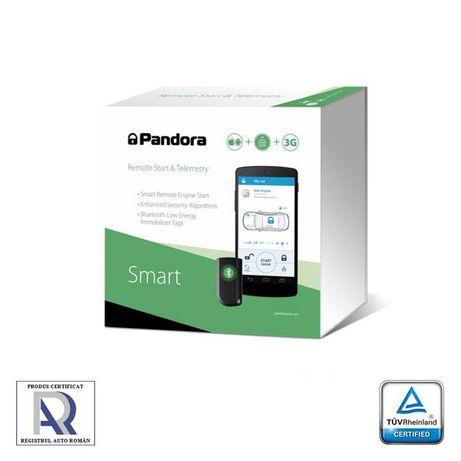 Alarma auto Pandora Smart PRO, conexiune CAN, bluetooth, GSM 3G, GPS