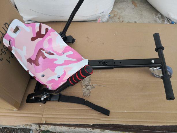 Hoverkart cu scaun pentru hoverboard roz