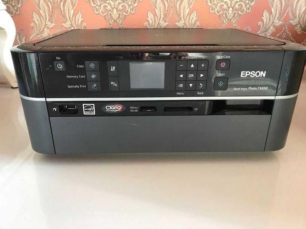 Принтер 3 в 1 Epson Stylus tx650 на запчасти