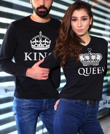 За ВЛЮБЕНИ! KING & QUEEN LOVE блузи! Или с ТВОЯ идея!