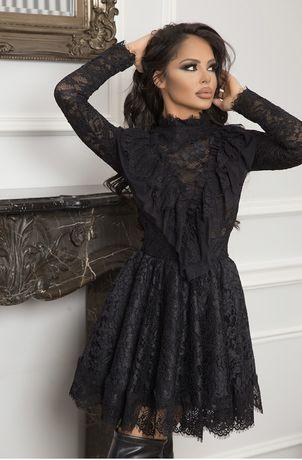 Официална вечерна рокля-Black Lace Dress