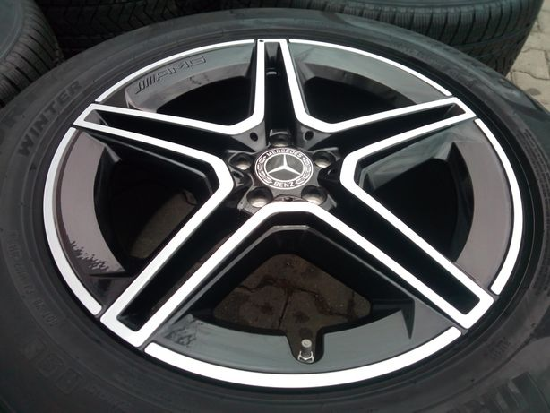 """Jante originale Mercedes GLE W167,AMG 20"""" noi cu anvelope noi de iarnă"""