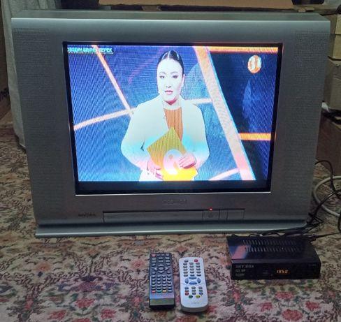 Телевизор Toshiba(новый) с цифровой ТВ приставкой Otau