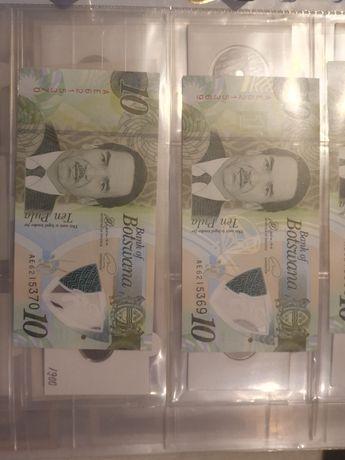 Bancnota 10 pula botswana