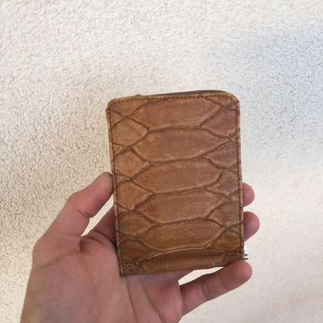 Portofel moneyclip din piele naturală