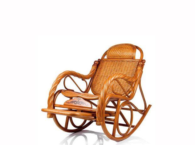 Кресло качалка из ротанги (плетен)RTN-049