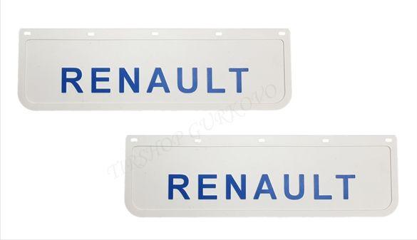 Релефни гумени бели калобрани Рено/Renault