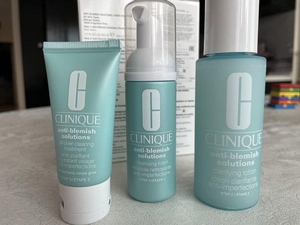 CLINIQUE 3-СТУПЕНЧАТАЯ система для ухода   за Проблемной кожей