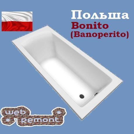 Акриловая ванна Aventura 170х75, 180х80 см. Польша