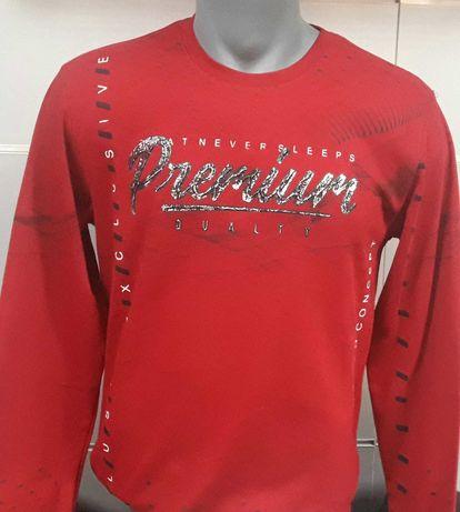 Мъжка ватирана блуза REDWAY 7009 червена и жълта S,M,L,XL,XXL
