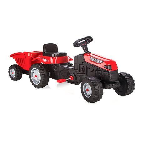 Tractor cu pedale și cupă/remorcă pt. copii - Pilsan (nou, sigilat)