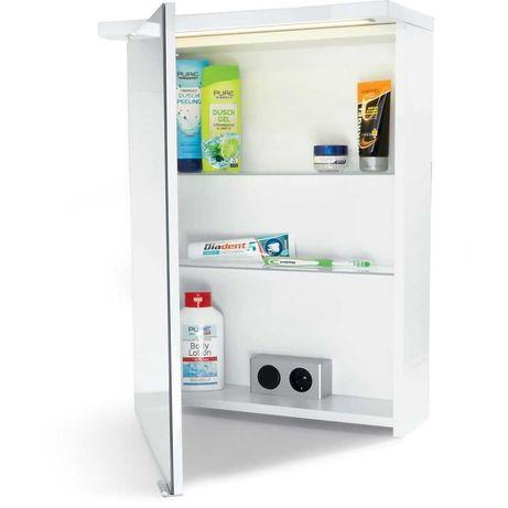 Шкаф за баня с огледало и LED осветление