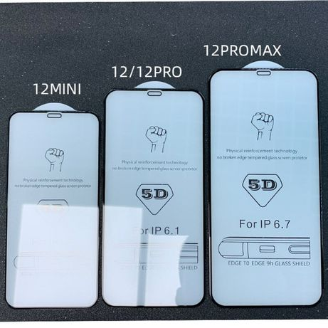 9D/5D FULL GLUE Стъклен протектор за iPhone 12 Mini 12 PRO 12 PRO MAX