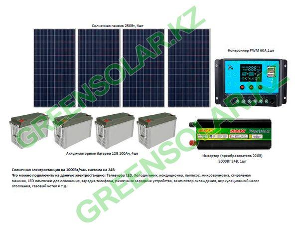 Солнечная батарея на 1кВт/час (1000Вт/час)