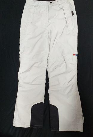 Pantaloni albi/gri deschis ski
