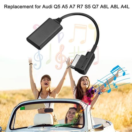 Interface Bluetooth Module AUX Receiver Cable Adapter for Audi VW