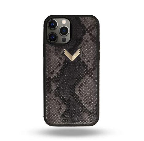 Husa Velante ARJEWELS Telefon Iphone 12 PRO Rubber Piele Piton