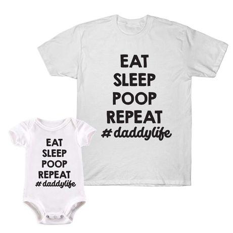 Комплект Бебешко боди и Мъжка тениска / Baby body & Male T-shirt