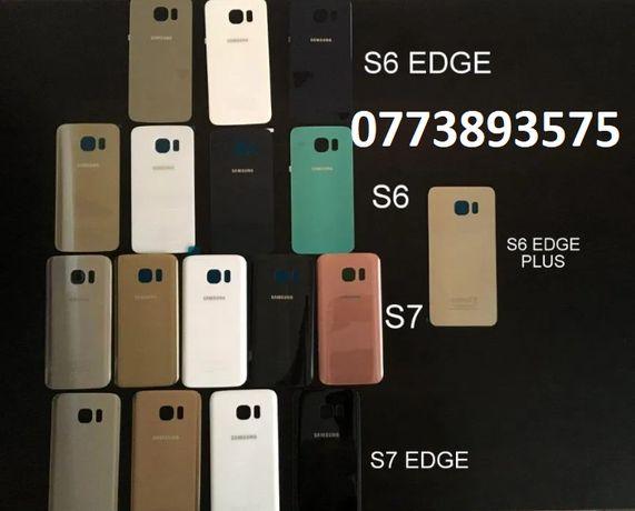 Capac sticla NOU + adeziv Samsung Galaxy S6 S7 S7 EDGE S6 EDGE PLUS
