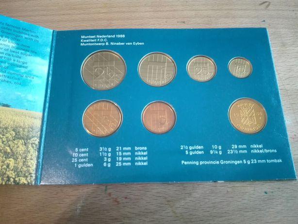 Set Complet Monede Olanda 1988
