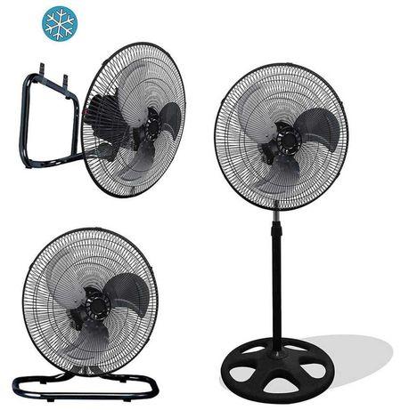 Вентилятор напольный 3в1 металлическим лопастями  60ват