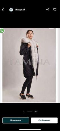 Шикарная качественная парка, пальто, дубленка, куртка 44 размер (S)