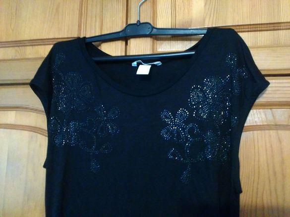 Дълга черна тениска(туника)