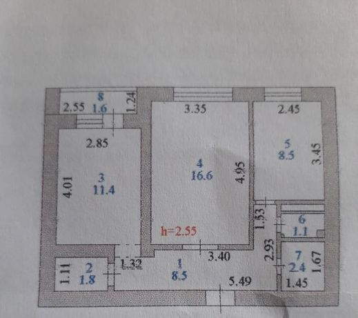 Продается двухкомнатная квартира по Жирентаева