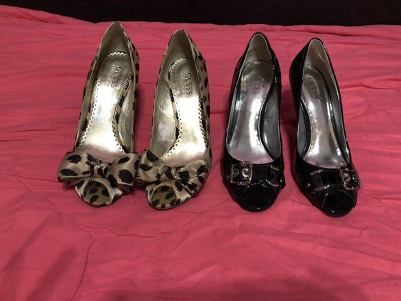 токчета Guess обувки на ток
