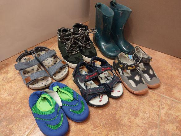 Детски гумени ботушки, кецове Zara, сандали и нови плажни обувки