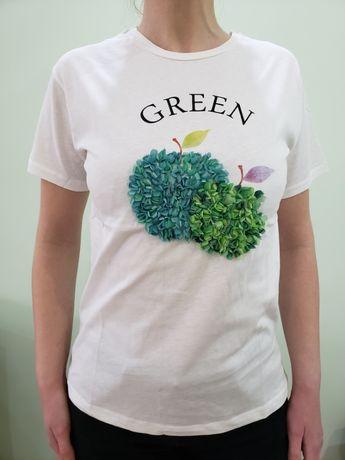 Тениска 3D Green apple- L