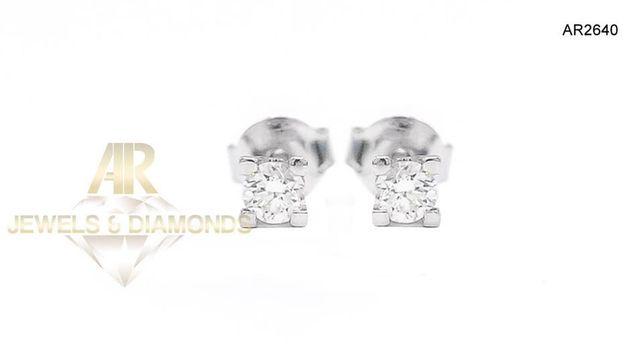 Cercei Aur Alb cu Diamante model ARJEWELS(AR2640)