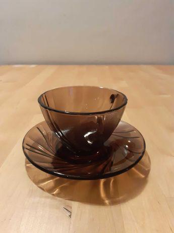 serviciu de cafea sticla fumurie Duralex 12 persoane
