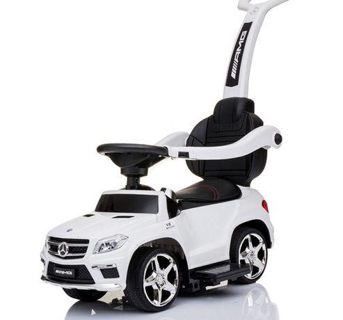 Masinuta cu maner pentru copii 3 in 1 Mercedes GL63 AMG PREMIUM #Alb