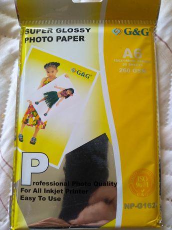 Фотохартия G&G NP-1626, A6, Super Glossy, 20 листа