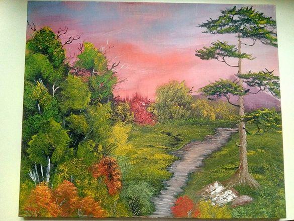 Картина - Високопланински пейзаж
