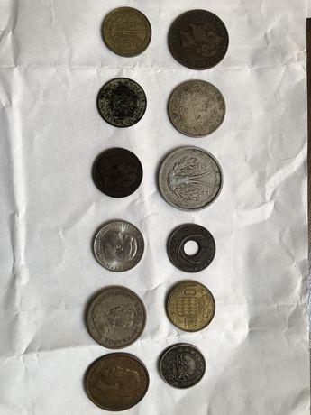 Набор из 12 монет. Разные года.