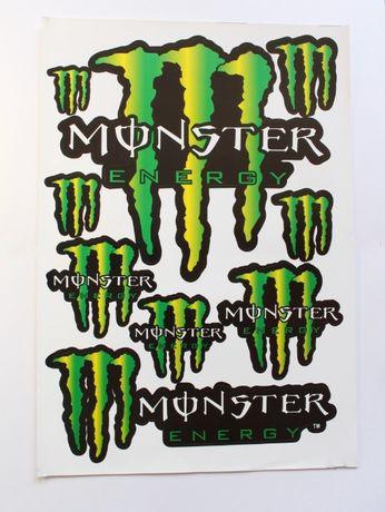 Изрязани по контур стикери Monster