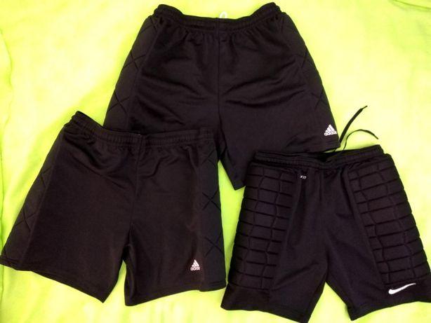 Pantaloni portar fotbal NIKE si ADIDAS marime L cu protectii