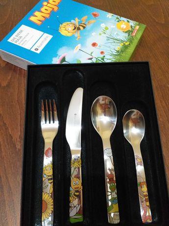 Детски комплект прибори за хранене от 4 части Biene Maja