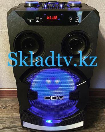 Акустическая Портативная Bluetooth AUX USB Колонка бренда COV 120Ватт