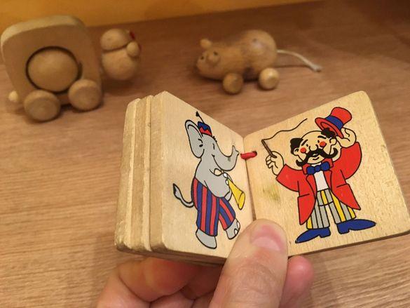 дървени играчки - костенурка, мишка, книжка Гоки, лабиринт Жаба, лабир