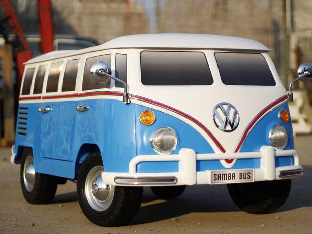 Masinuta electrica pentru 2 Copii VW Samba Bus 2x45W #Albastru